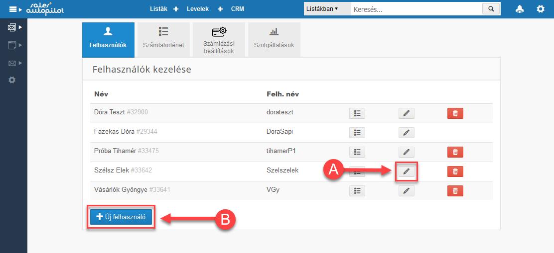 CRM jogosultásgú felhasználók beállítása - 2