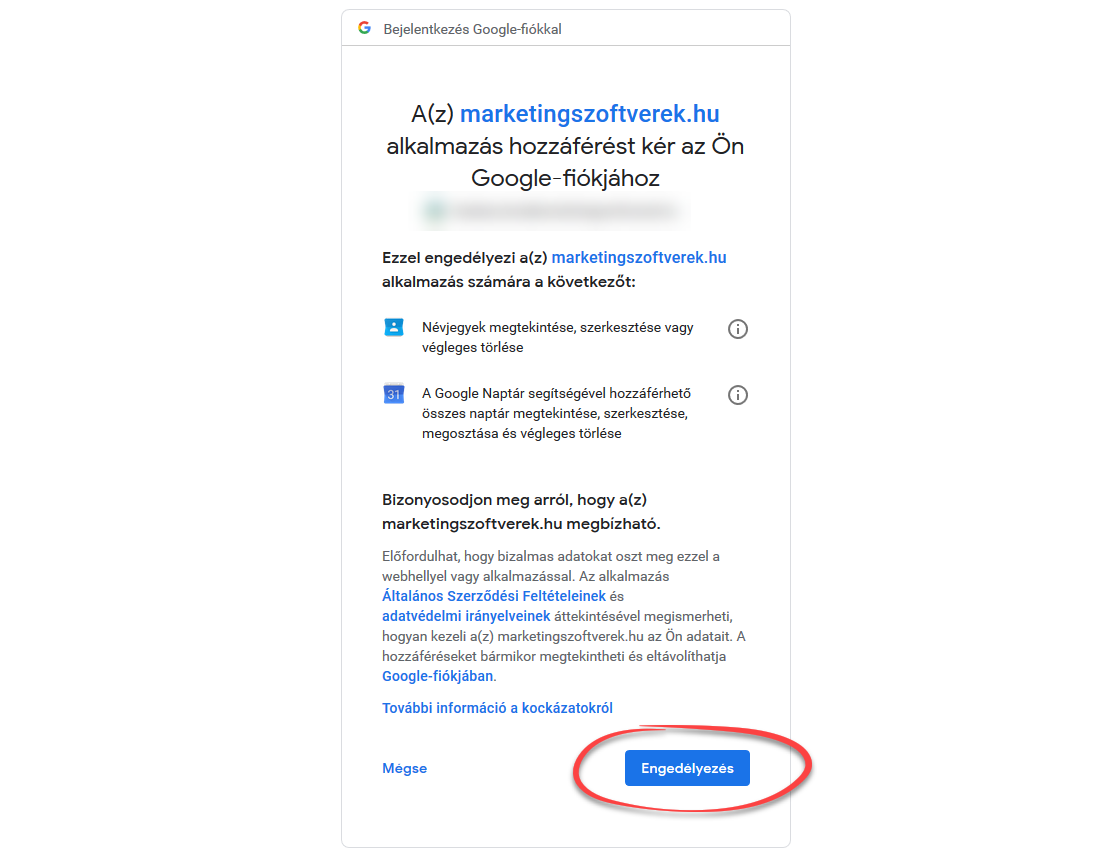 CRM lista szinkronizálása Google Contacts-szal - 2