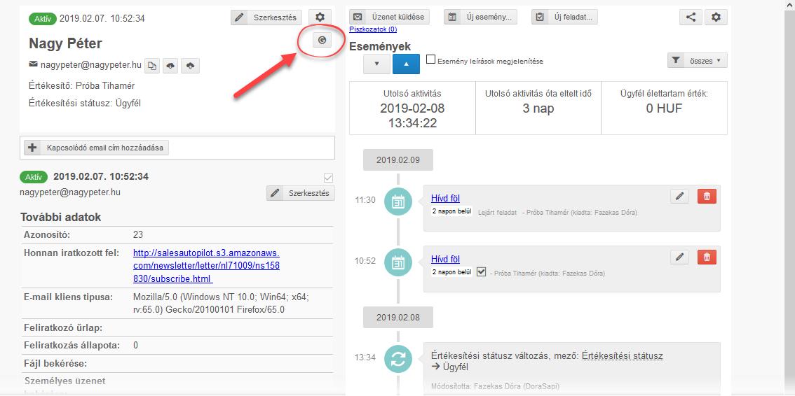 CRM lista szinkronizálása Google Contacts-szal - 4