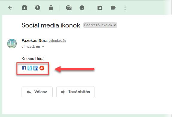 Közösségi média site ikonok megosztáshoz levélbe - 4