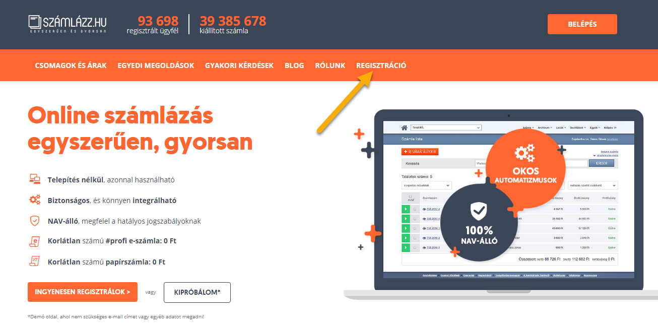 Számlázz.hu integráció SalesAutopilottal - 1